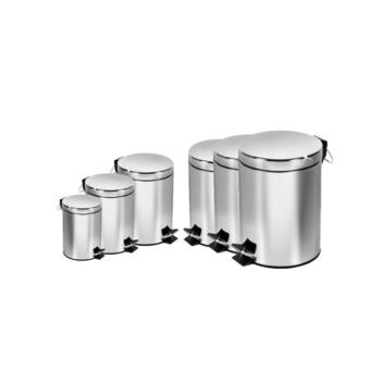 JIJI 7 Litres Stainless Steel Waste Bins ?Foot Pedal?7 Litres (Silver) HLWB-02