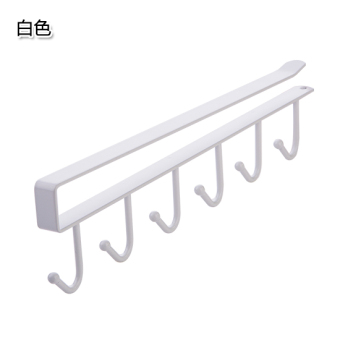 Kitchen iron traceless nailless adhesive hook rack