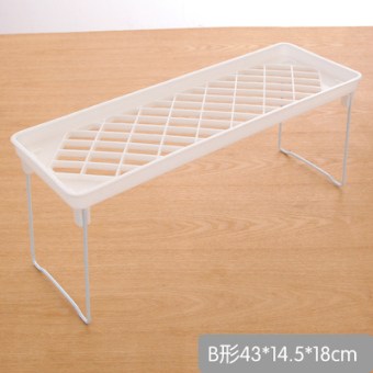 Kitchen shelf microwave oven rack floor shelf plastic storage rack kitchen supplies storage shelves