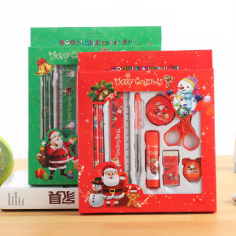 Korea Christmas stationery set gift 9 sets of small student prizesschool supplies stationery gift Christmas's day