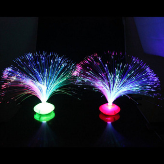 LED Color Changing Fiber Optic Night Light Lamp Colorful Home Party Decor - intl