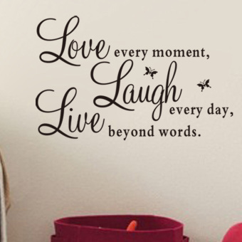 Live Laugh Love Quote Removable Vinyl Decal Wall Sticker Home Decor Art Hot