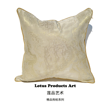 M gold European Italian soft fitted model room cushion cover pillow