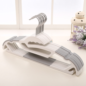 MANLIANG plastic wet and dry dual use clothes hanger non-slip hanger