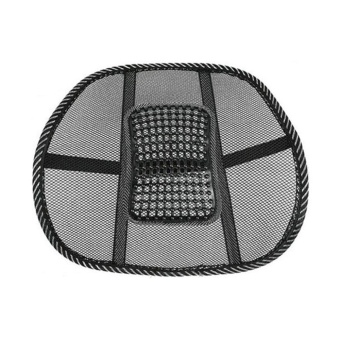 Mesh Lumbar Back Brace Support Office Home Car Seat Chair CushionCool - intl