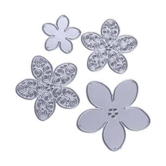 Metal 4 size Flower Cutting Dies Stencils for DIY Scrapbooking/photo album - intl