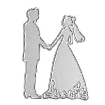Metal Bride Groom Wedding Cutting Dies Stencils For DIY Scrapbooking - intl