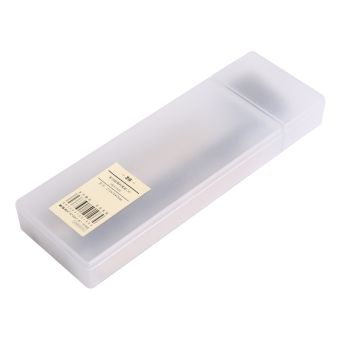 M&G student female male transparent plastic pencil case pencil box