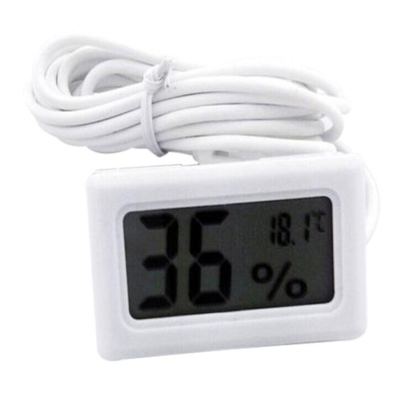 New LCD Digital Thermometer Hygrometer for Incubator Poultry Reptile Greenhouse - intl