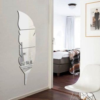 New Removable Home Mirror Wall Stickers Decal Art Vinyl Room DecorDIY - intl