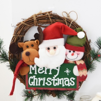 Nuo 36cm elderly snowman Christmas wreath