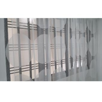 Organza curtain, white, modern design, 1 panel