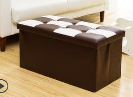 Ottoman storage Chair furniture bench seat leather stool