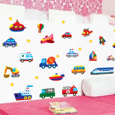 High Quality Pastoral Self Adhesive Landscape Bathroom Sticker Wall Stickers