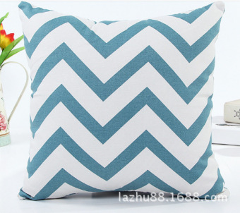 Pattern cotton canvas high-grade car office sofa cushion pillow cover