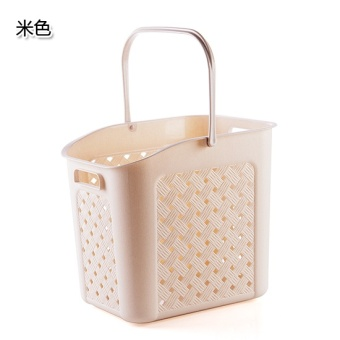 Plastic Bathroom portable dirty clothes debris storage basket laundry basket