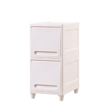Plastic drawer-style multi-layer floor organizing cabinet storage cabinet