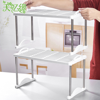 Plastic office desktop kitchen shelf multi-shelf