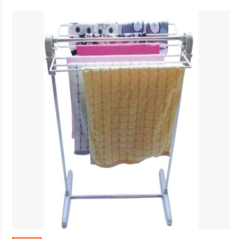 Plastic stainless steel multi-functional bath towel rack clothes rack
