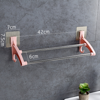 Punched bathroom wall hangers towel rack