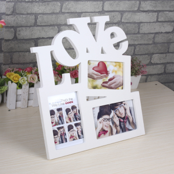 Pvc material love three frame combination birthday graduation party gift life art photo frame photo frame swing sets