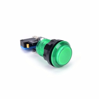 Round Illuminated Arcade Push Button With Led Light Available Green- intl