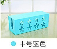 Route the storage box wire storage box WiFi socket plug strip lineboard storage box finishing box cable management line is