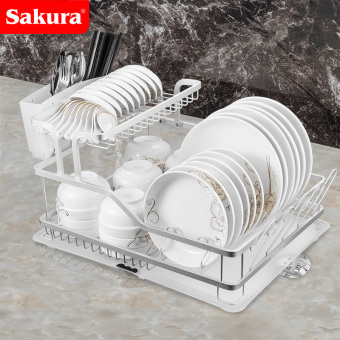 Sakura cupboard dish storage rack kitchen shelf