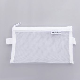 Simple mesh stationery bag transparent pencil case