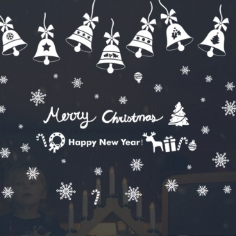Snow New Year Christmas decorations mall double-sided stickers