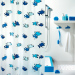 Spirella cartoon plastic semi-transparent waterproof shower curtain