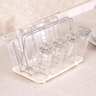 Stainless steel beer mug cup storage rack cup holder