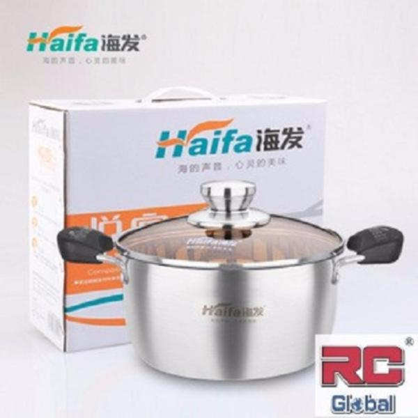 RC-Global Stainless Steel Pot  / Cooking pot / soup steamer / Steamboat Pot / induction wok ( 22 cm ) 特级不锈钢汤锅 Singapore