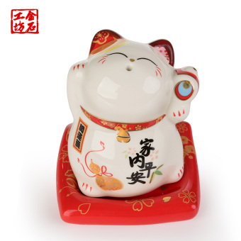 Stone workshop fashion Japanese toothpick tube toothpick cans Lucky Cat