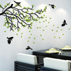 3D tree acrylic crystal Dimensional Wall stickers Street