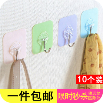 Strong traceless sucker wall hook viscose adhesive hook
