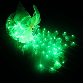 Sunshop 10Pcs Christmas Decor Led Balloon Lights Mini Flash Lamps Lantern Wedding Party Home Decoration - intl