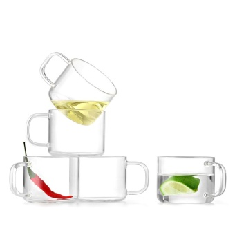 Tea separation transparent tea cup
