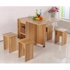 Tft001 Foldable Dining Table W Stool With Stools Tft
