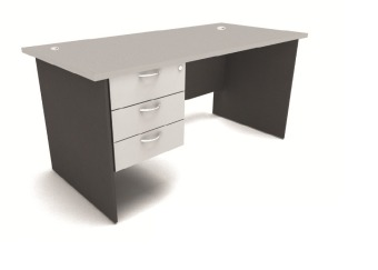 This Office Writing table with fix pedestal 3D