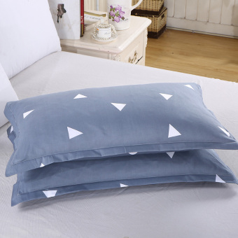 Tony Jiayi cotton pillowcase pillow cover cotton bedding kit 48*74cm pillow cover double student one pair of dress
