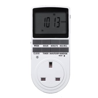 UK Plug Electric Power LCD Display Digital Programmable TimerSocket Switch