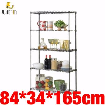 UMD Anti-rust 5 Tier Kitchen Storage Rack Shelf Organization JS-227 (Black)
