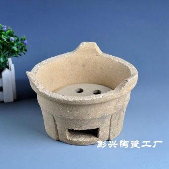 Vintage handmade fire-resistant clay casserole pot hotel mud Stove