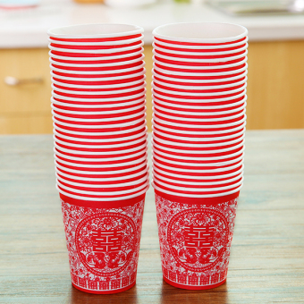 Wedding time of paper cups child wedding paper cups