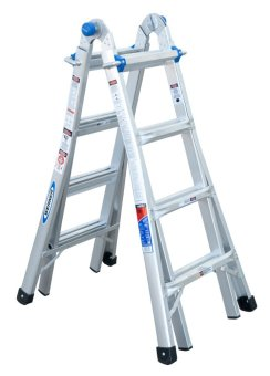 WERNER 17 STEP ALUMINUM TELESCOPING LADDER MT-17