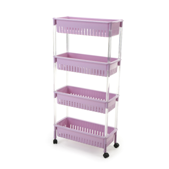Wide refrigerator floor kitchen shelf multi-layer storage rack