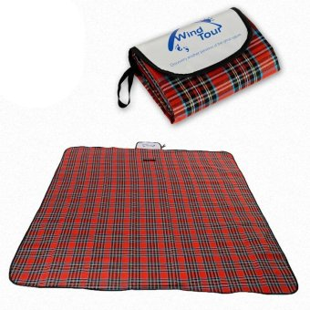 WIND TOUR Outdoor 150 x 180cm Waterproof Picnic Mat - Red - intl
