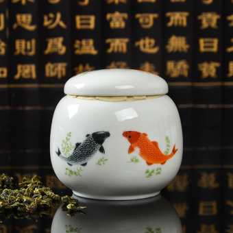 Yi Jie honey medicine storage sealed containers ceramic tea caddy