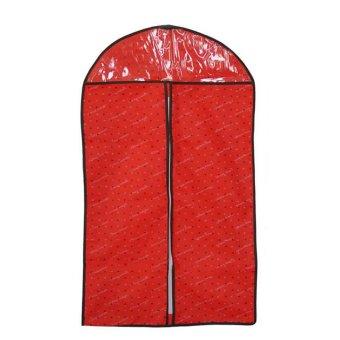 4 Pcs Red Love Heart Pattern Suit Dress Coat Garment Clothes Protective Non Woven Fabric Dust